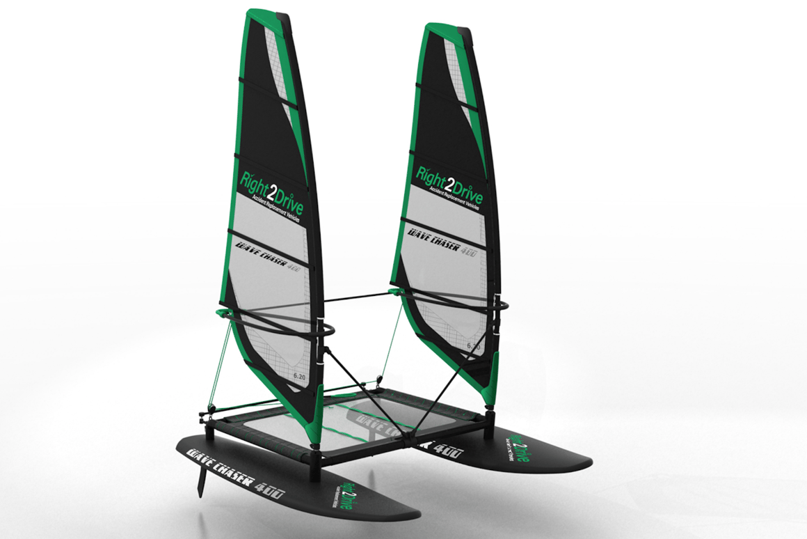 Wave Chaser crafts a new genre between catamaran and windsurfer