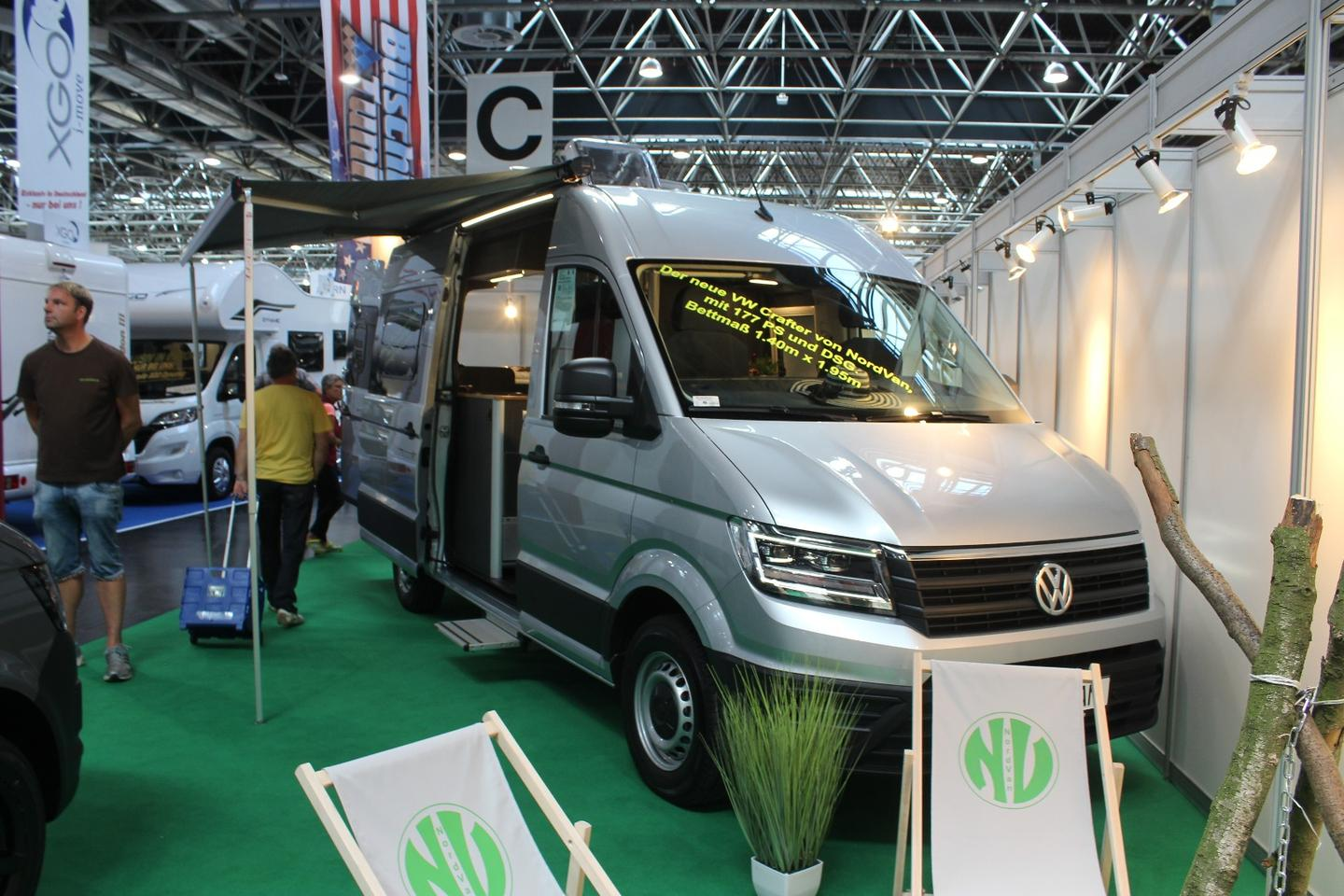 NordVan has created a very nice, self-sufficient Crafter camper van that runs entirely on diesel fuel and electricity