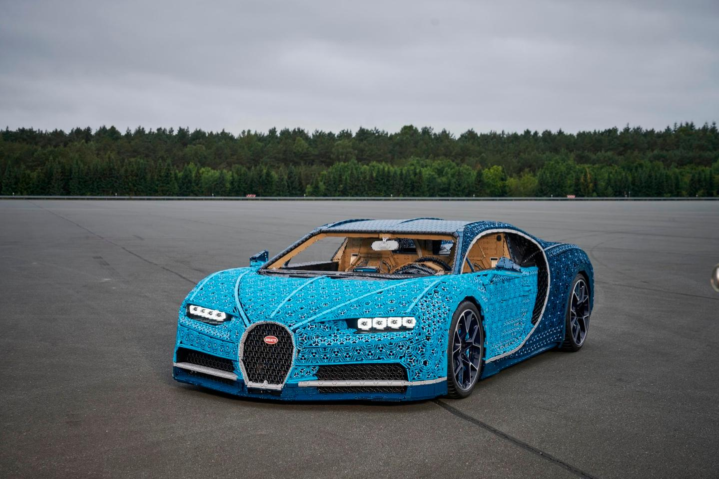 Over 1,000,000 Lego elements were used in the making of this life-sized, fully-functional Lego Bugatti Chiron