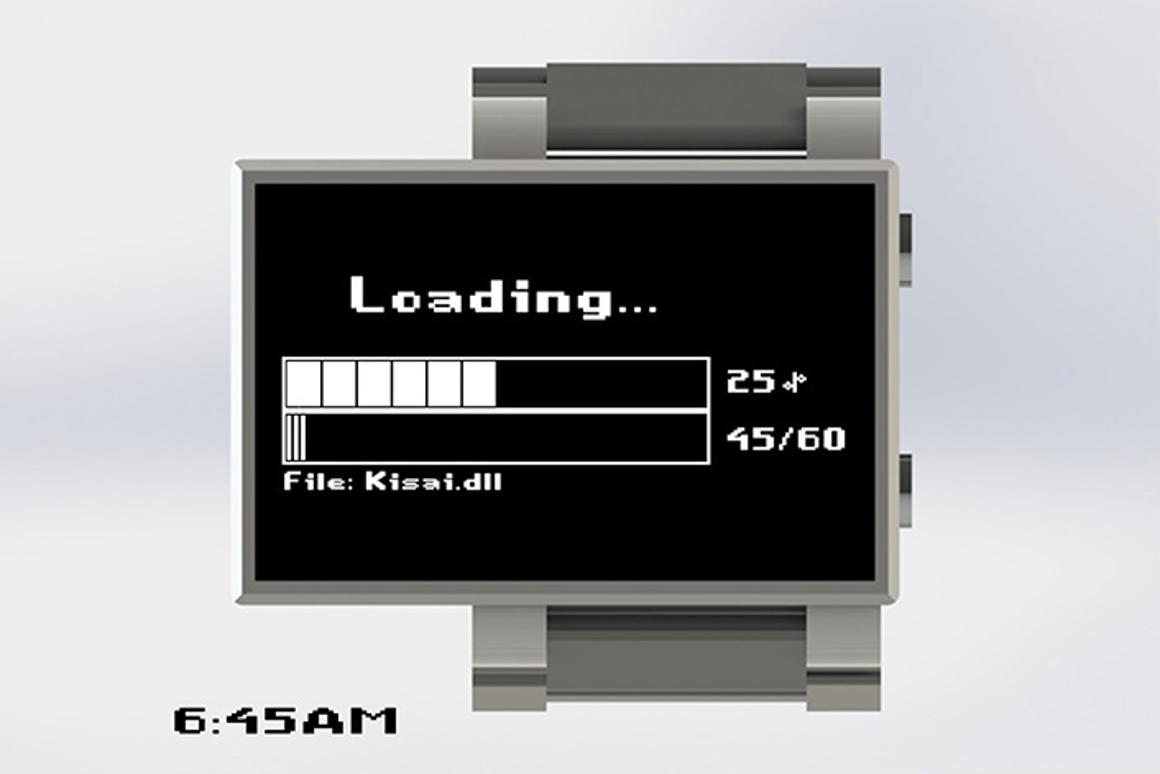 Loading... is a concept design from Tokyo Flash which mimics the look of a progress bar