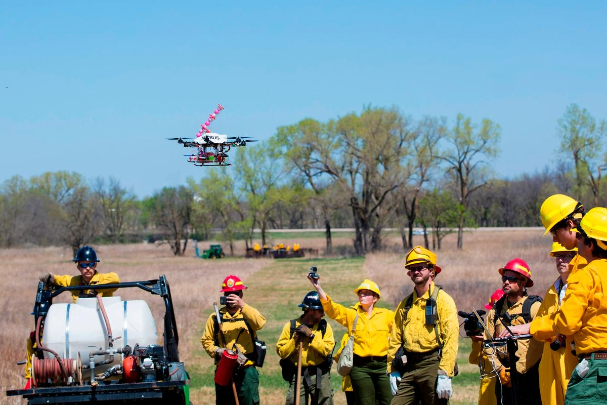 Researchers at the University of Nebraska-Lincoln have been developing a drone that ignites controlled burns from the air