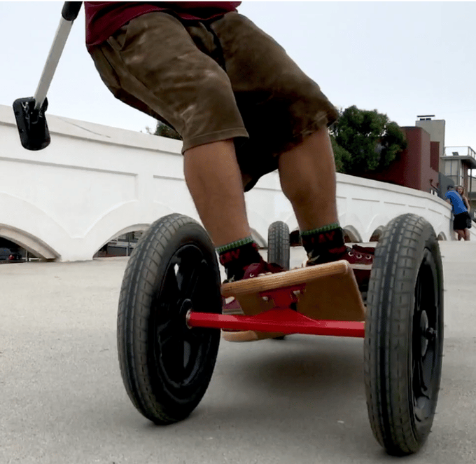 The SlingBoard 2.0 features 12-inch air-filled tires wrapped around custom aluminum rims