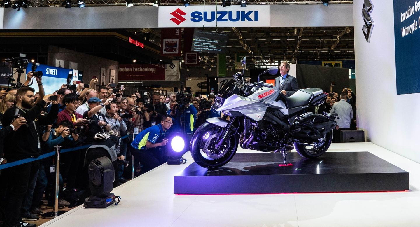 Suzuki reveals the 2019 Katana at Intermot 2018 in Cologne, Germany
