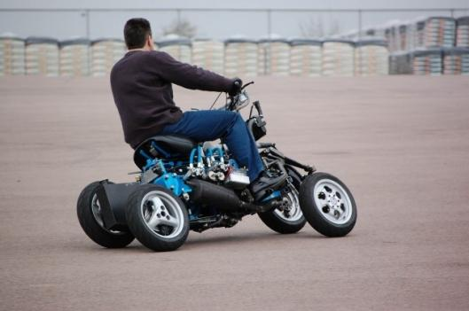 Can a motorcycle have four wheels?