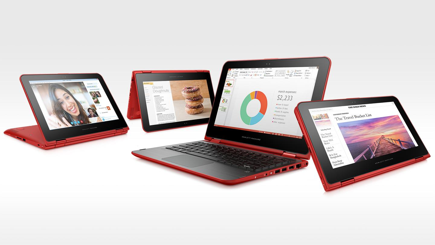 HP's new hybrids offer the same geared hinge design found on the Spectre x360
