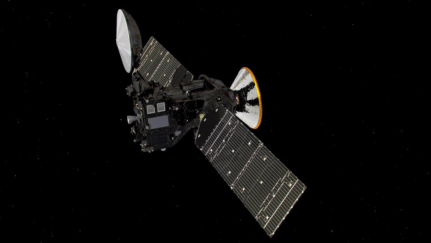 The Trace Gas Orbiter and Schiaparelli vehicle that form ExoMars 2016
