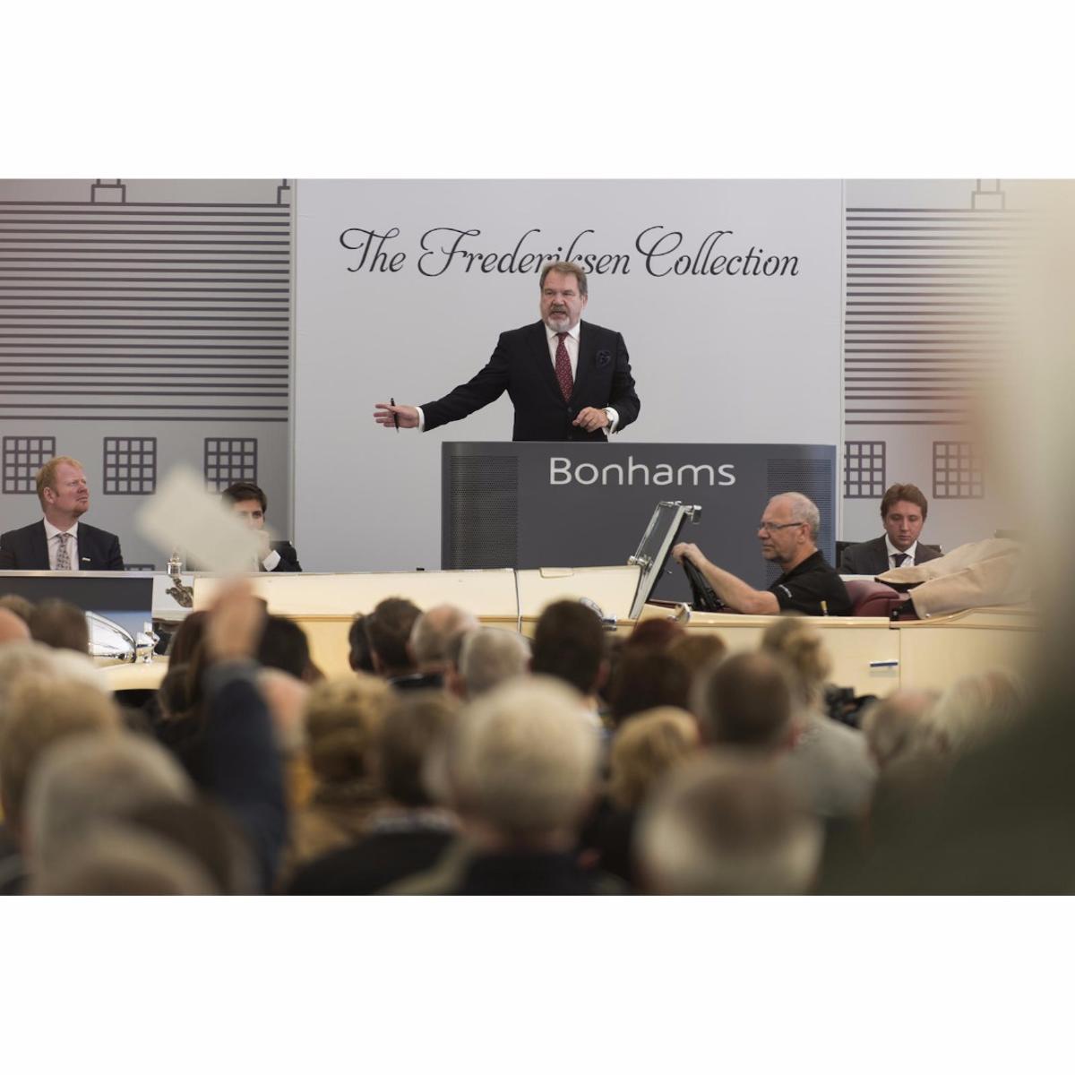 Malcolm Barber presiding over Bonham's sale of the Frederiksen Collection