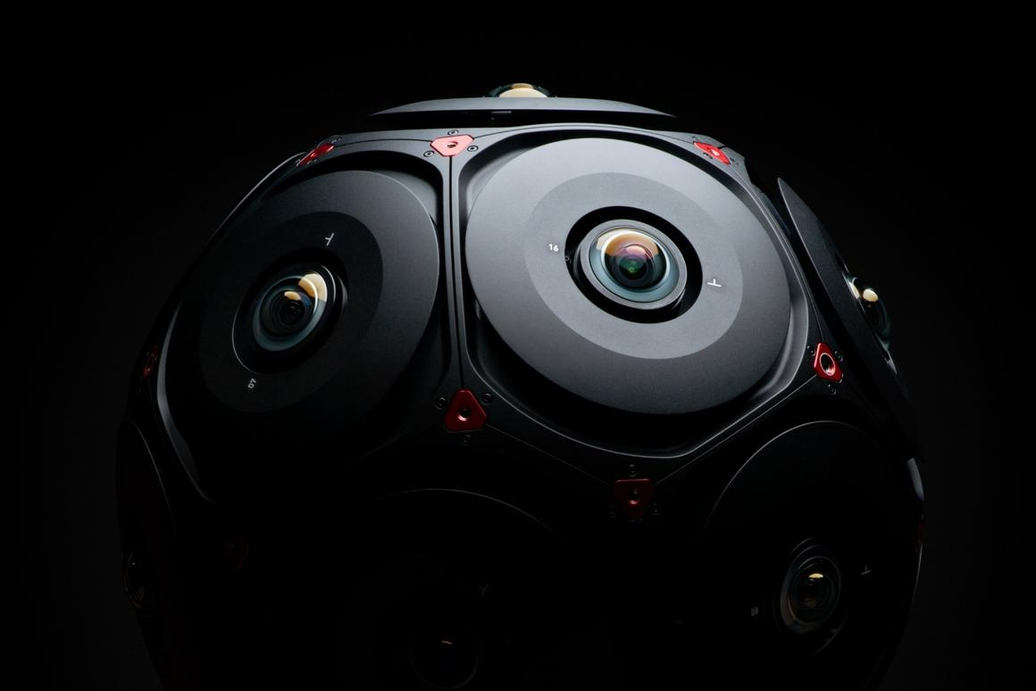 Facebook and Red detail Manifold VR camera for 6 degrees of