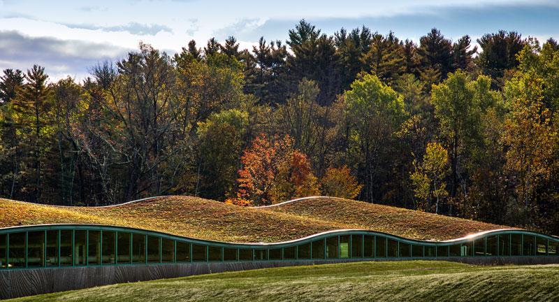 The Hotchkiss School's new biomass building (Photo: Centerbrook)