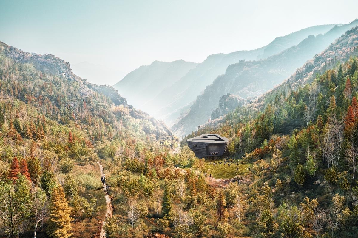The Chapel of Sound is located in a rural valley north of Beijing