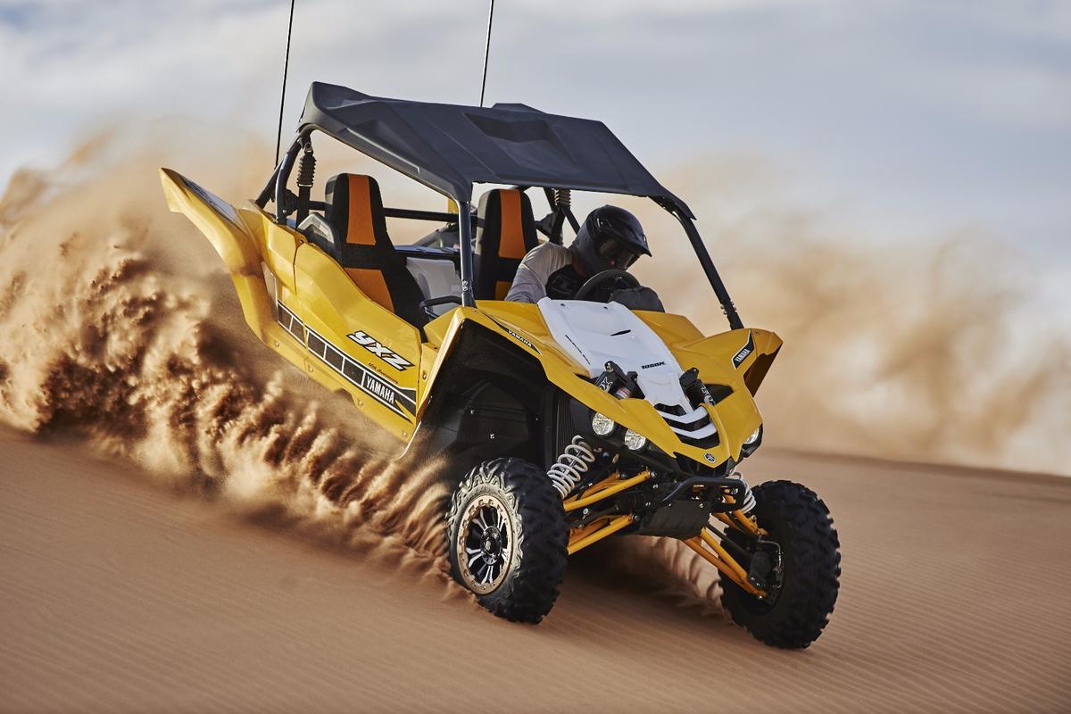 The Yamaha YXZ1000R packs a new three-cylinder four-stroke 998 cc engine