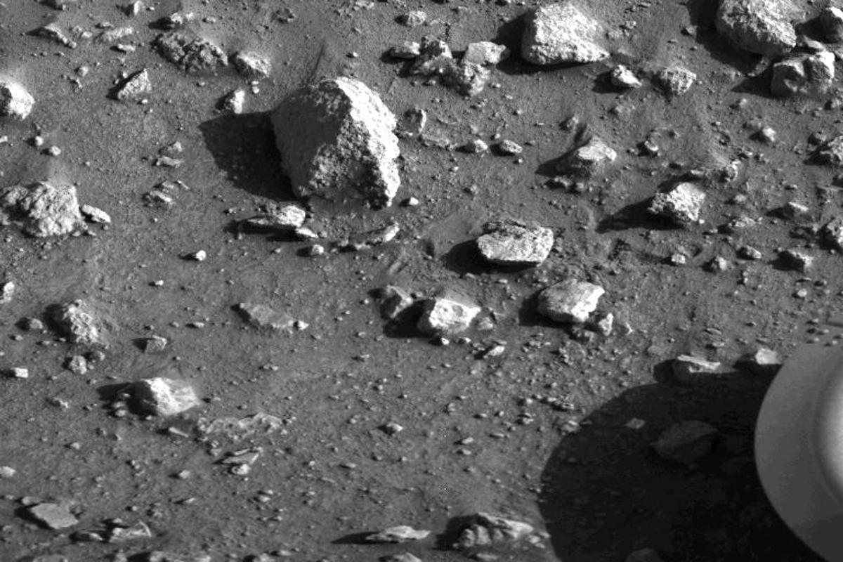 The historic first clear image returned from the surface of Mars courtesy of Viking 1