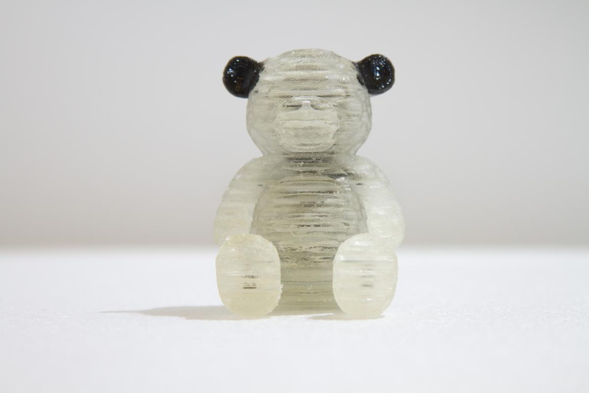 A 3D printed squishy teddy bear (Photo: MIT Computational Fabrication Group)