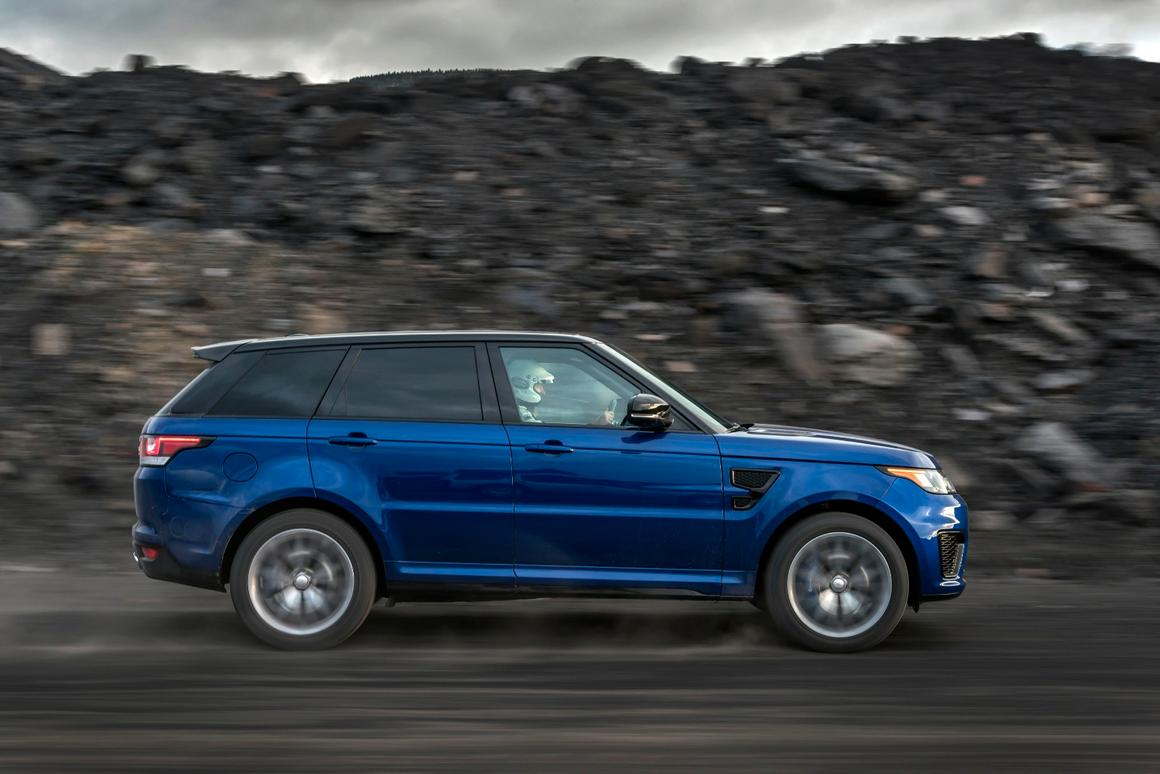 The Range Rover Sport SVR sped to 62 mph in 5.3 seconds on the gravel