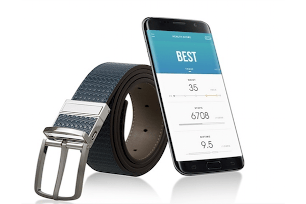 Welt is a fitness tracker hidden in a belt, which monitors steps taken, time spent sitting and waist size over time