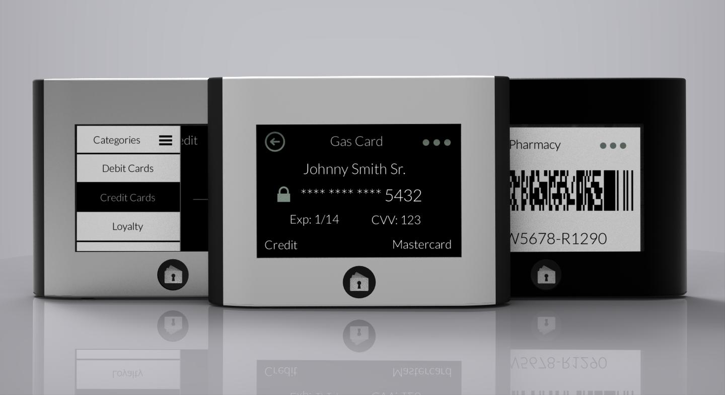 Wocket stores electronic versions of your cards, that only you can access