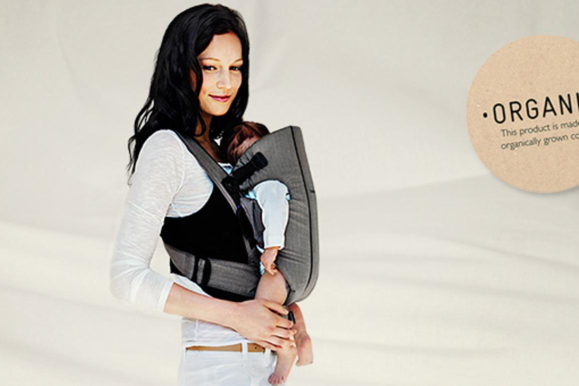 Baby Bjorn's baby carriers are now available in organic cotton