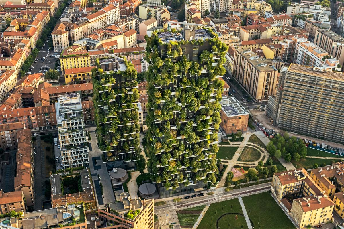 Bosco Verticale, by Stefano Boeri Architetti, is one of our picks for the best greenery-covered buildings in the world