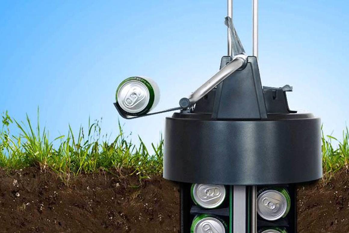 The eCool lets you enjoy a cool beer at any time without ever having to leave your own garden