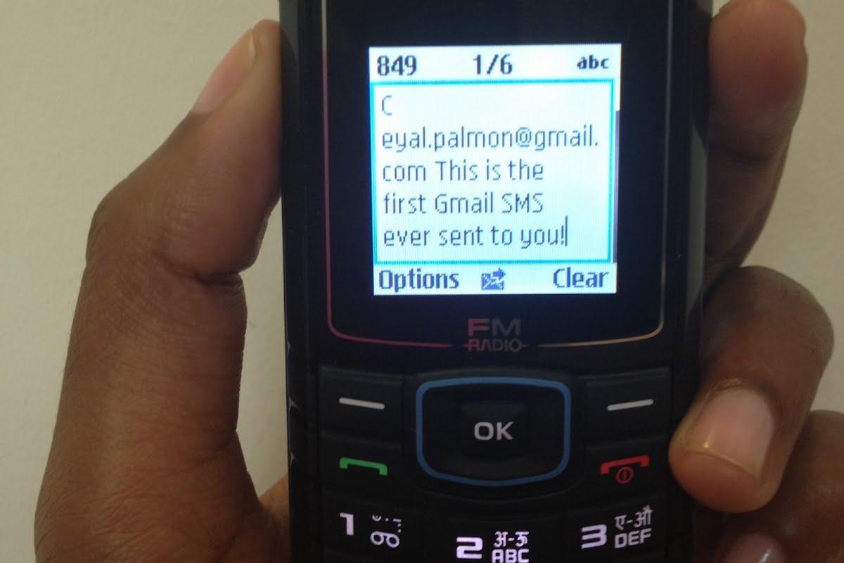 Gmail SMS allows users of older and more basic cellphones located in Ghana, Nigeria and Kenya to access Gmail
