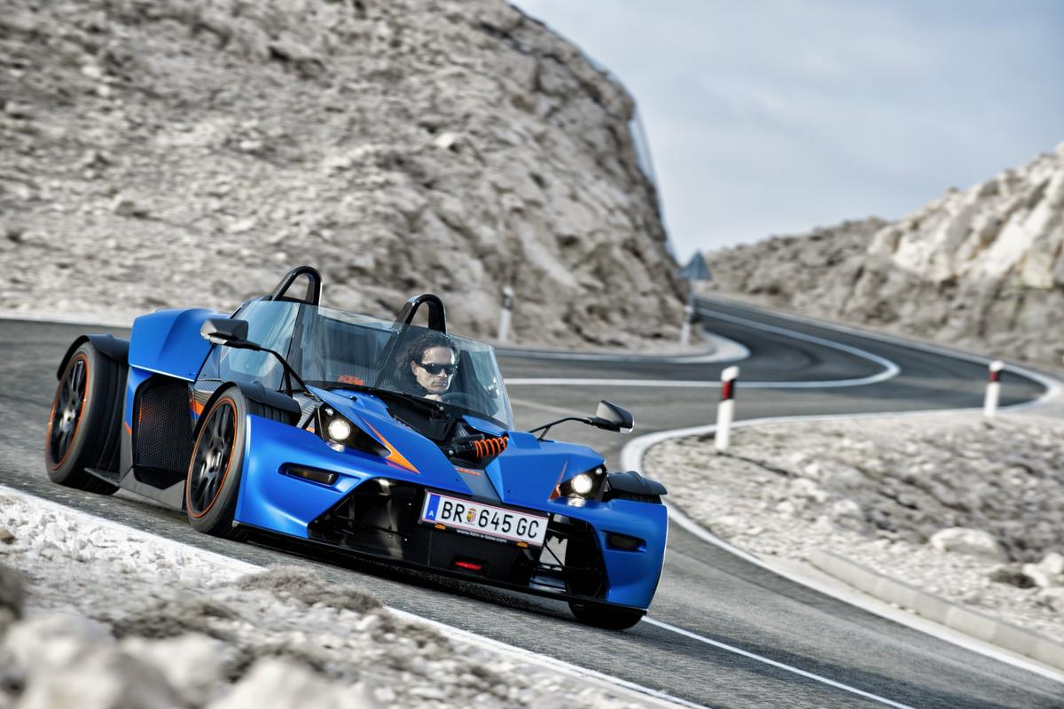 The new KTM X-Bow GT has a windscreen, doors and side windows for a helmet-free ride