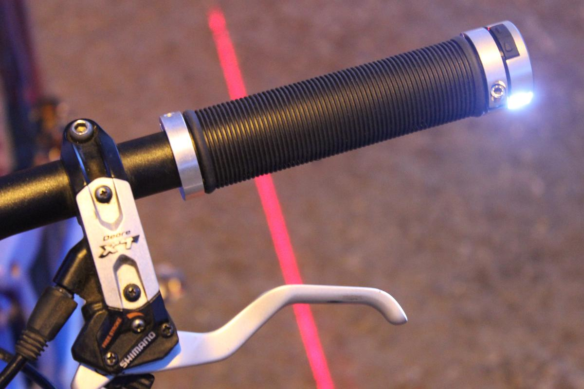 Lumma combines handlebar grips with headlights, tail lights and laser lane markers