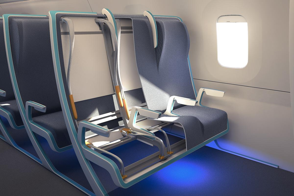 The Morph concept would allow passengers to purchase additional sitting width