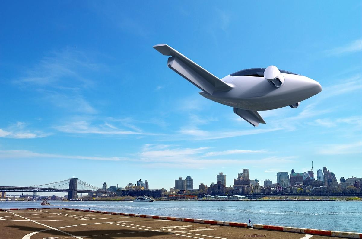 Taking off and landing like a helicopter, the Lilium aircraft goes from VTOL to forward flight by swiveling its engines