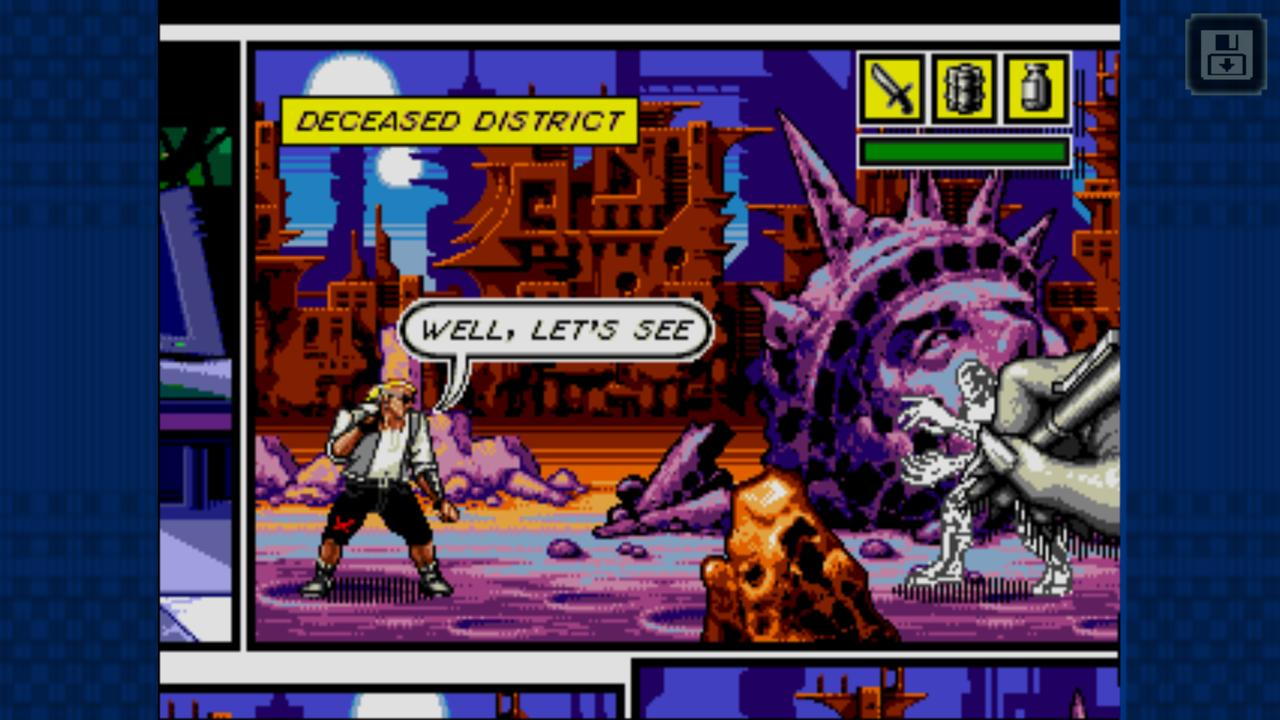 Included at launch of Sega Forever is the 1995 titleComix Zone