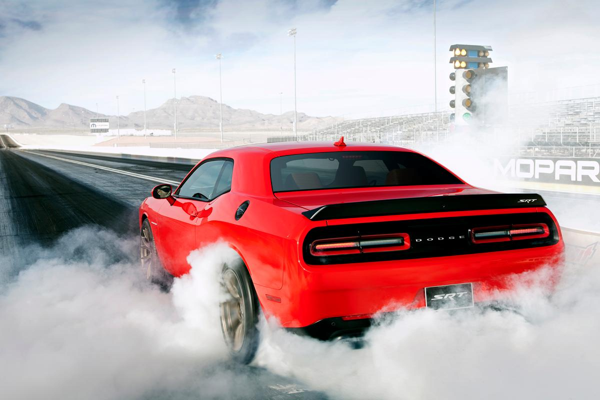 The Dodge Challenger SRT Hellcat has 707 hp and 650 lb-ft on tap