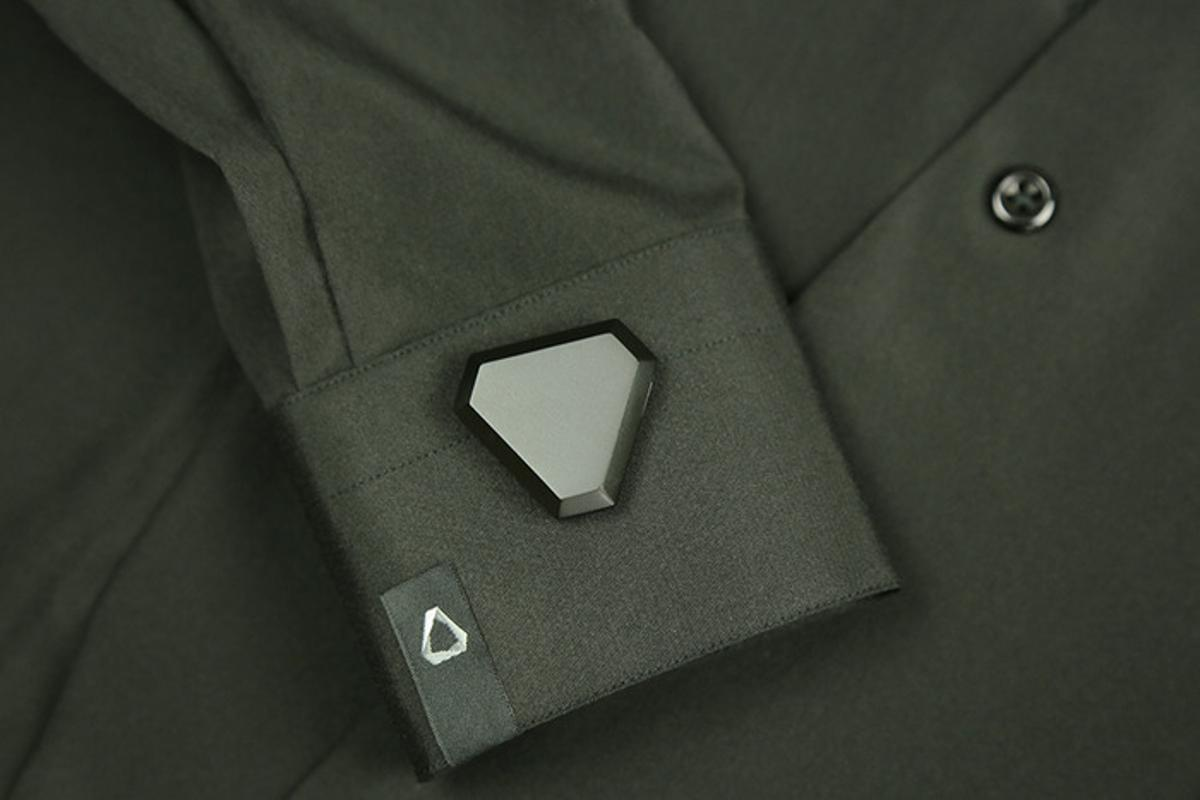 The Notch module in place on a shirt cuff (Photo: Notch)