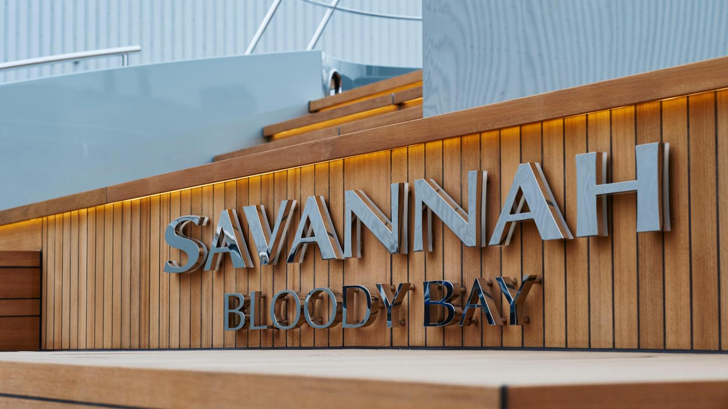 Savannah was built at the Feadship shipyard in Aalsmeer, the Netherlands