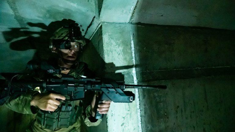 ARCAS allows a rifle to shoot around corners