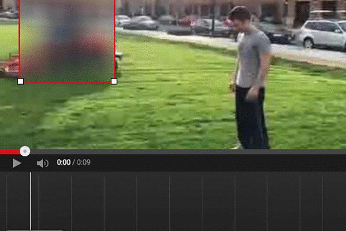 Youtube's technology tracks items as they move through the video and blurs them out on the fly