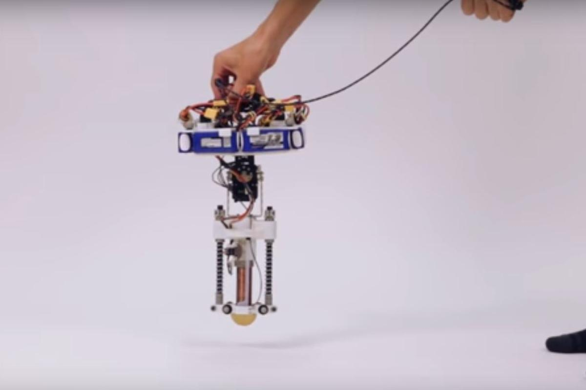The Disney hopping robot is the first to operate without a tether or outside power