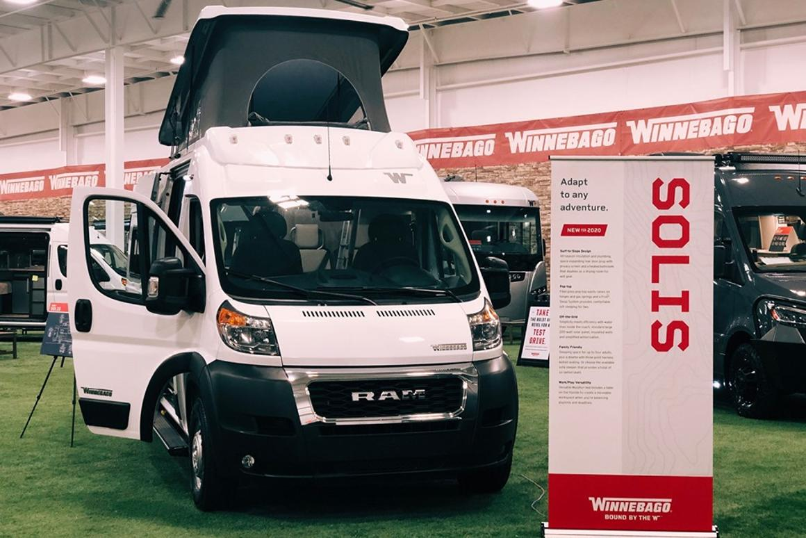 Winnebago debuted the Solis at the Elkhart Open House event