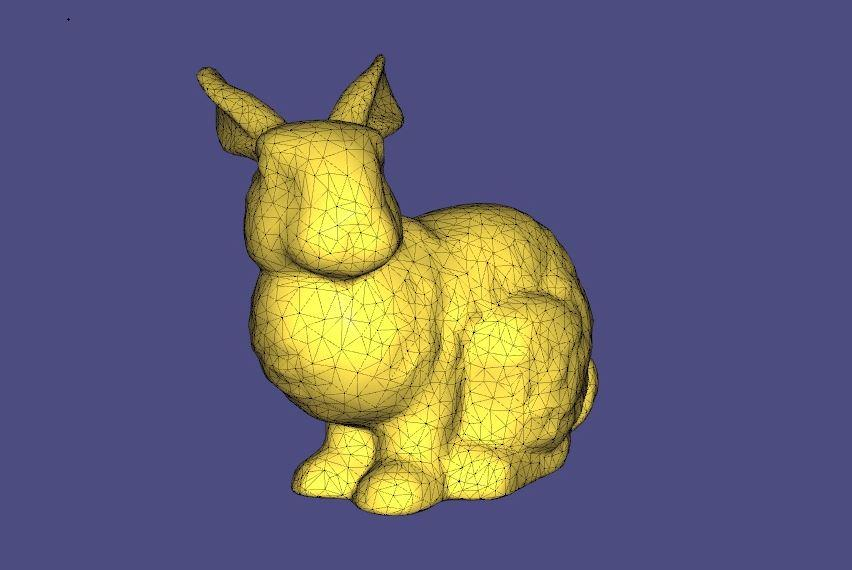 A mesh of the Stanford Bunny model, which researchers have now embedded into DNA – and in turn, 3D printed the model containing the DNA