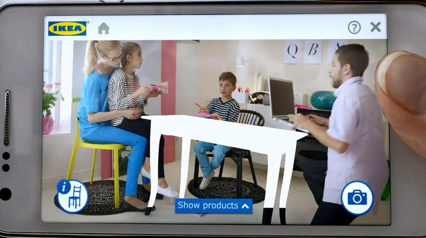 IKEA catalog uses augmented reality to give a virtual
