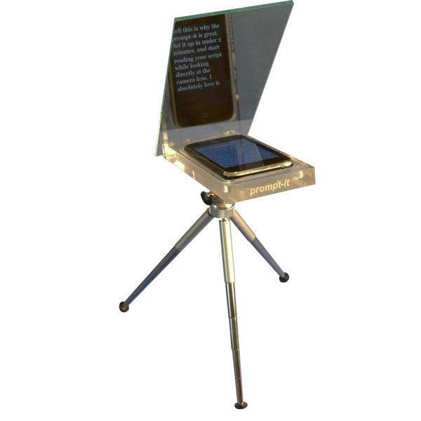 The Prompt-it lets you use your iPhone as a teleprompter