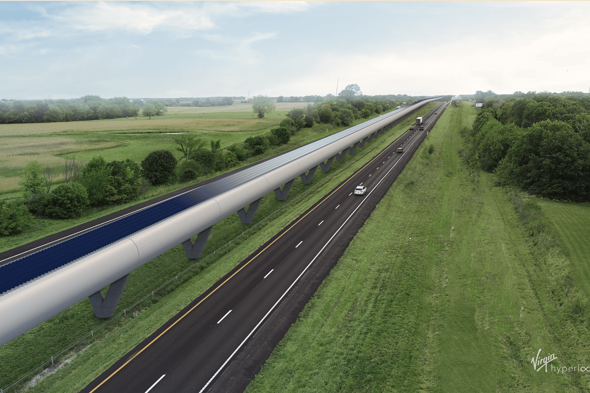 Virgin Hyperloop One has developed a full-scale test track and vehicle