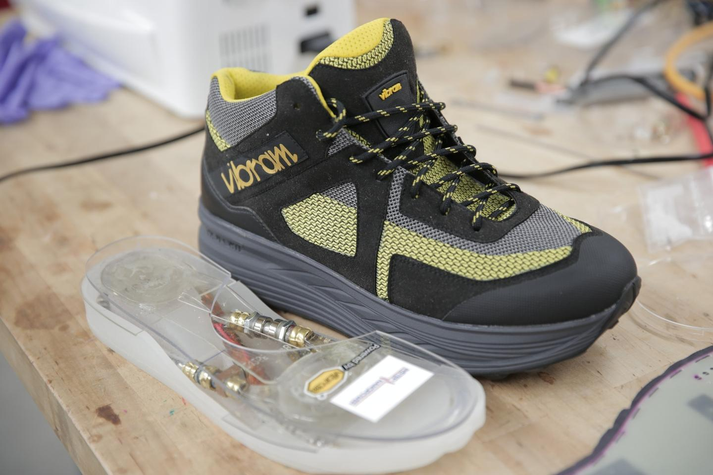 Energy-harvesting shoes could be used to power mobile devices through a charging cable, be adapted for the military or act as a power source for people in remote areas