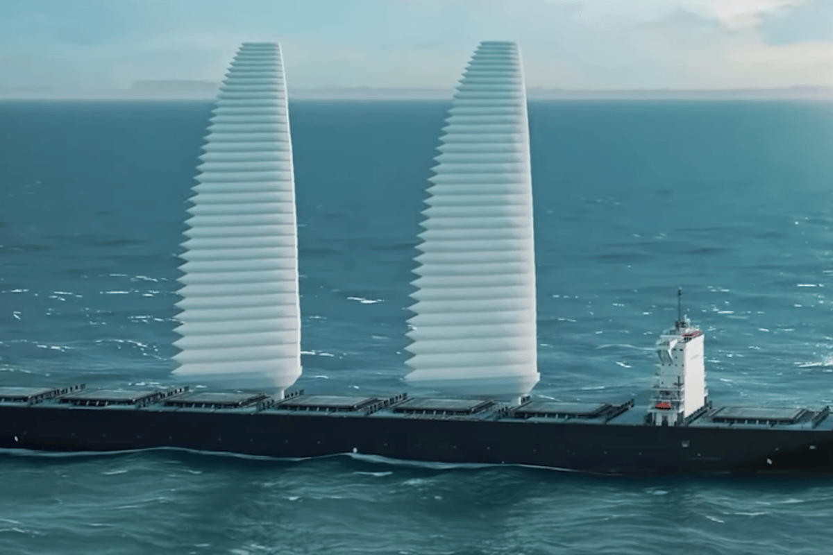 The sails won't replace the engines, but they should help to cut down on fuel usage and emissions