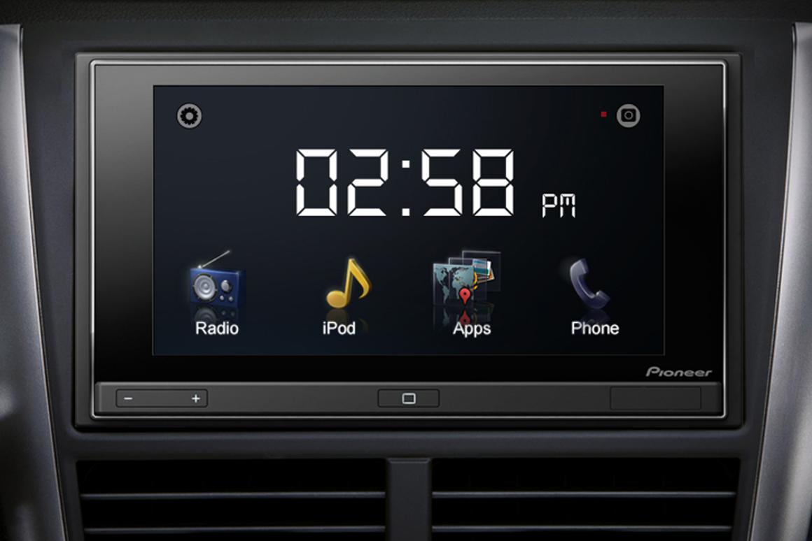 Pioneer's AppRadio features a 6.1-inch touchscreen display
