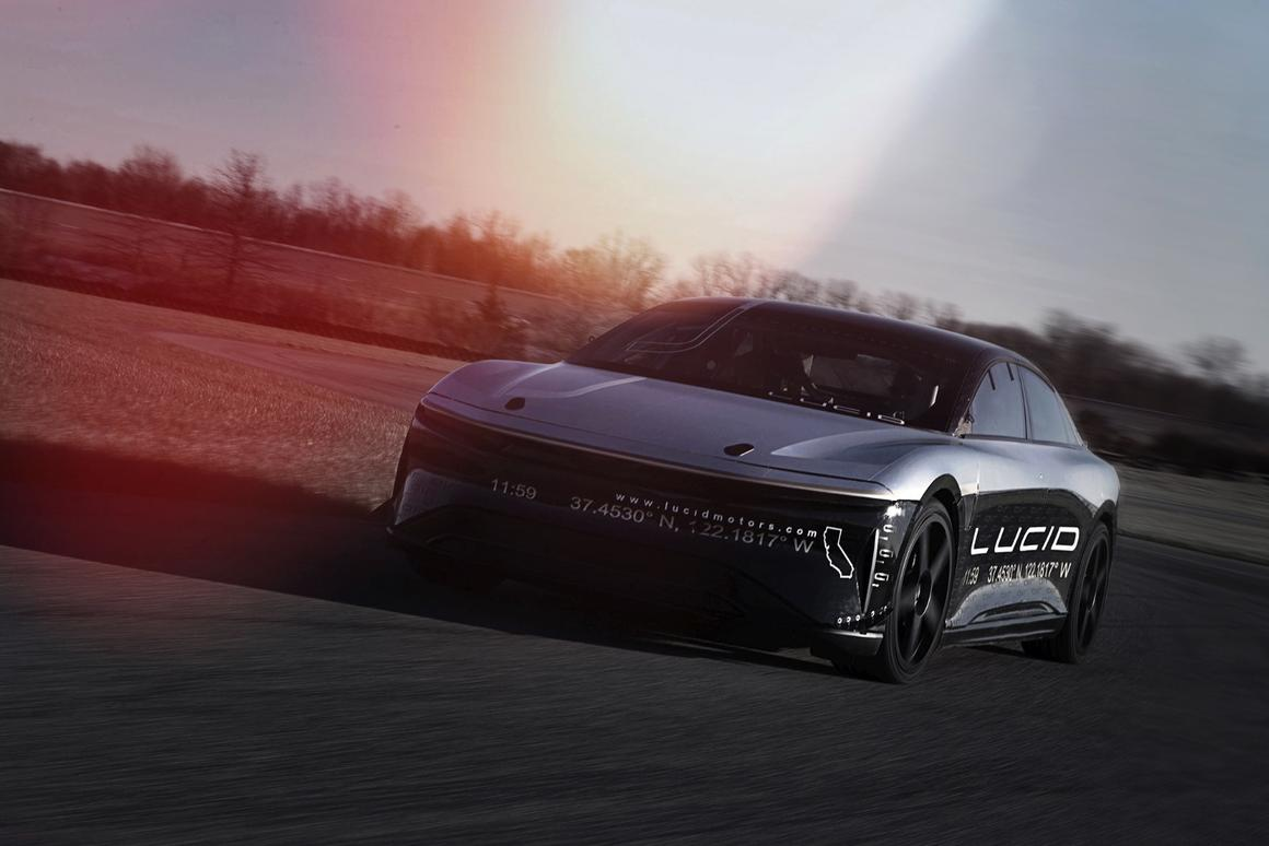 Lucid Motors Air Alpha Speed Car