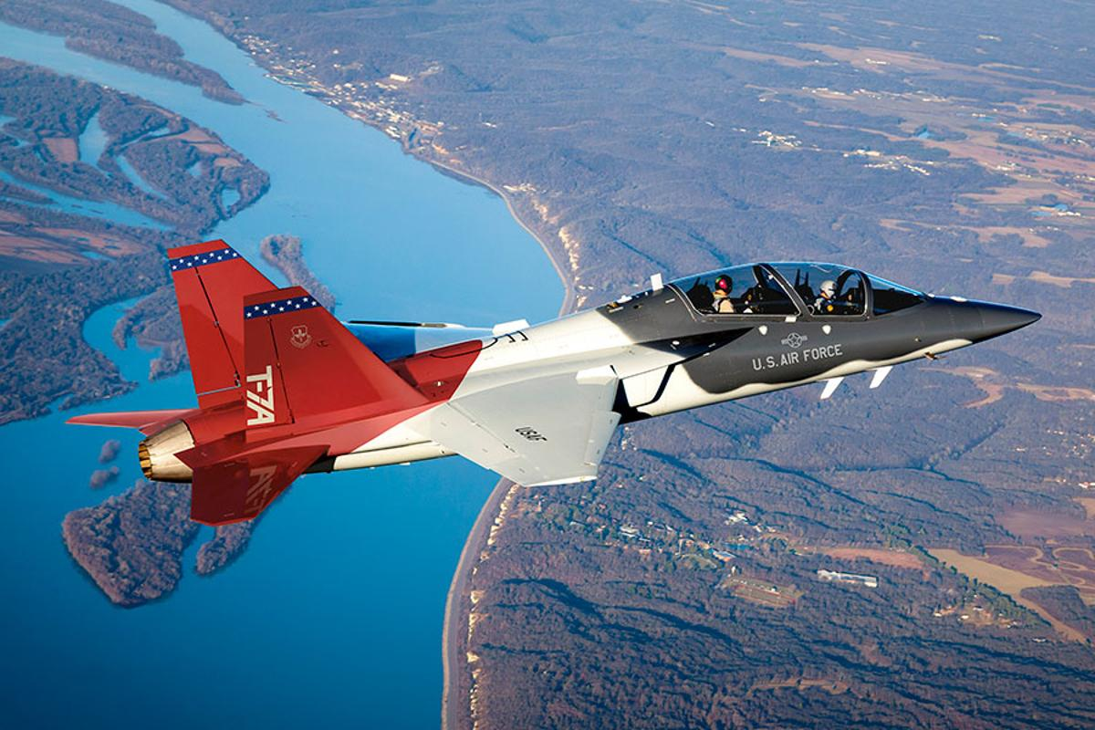 "The T-7A Red Hawk was digitally engineers, which is why it has now been given an ""e"" prefix"
