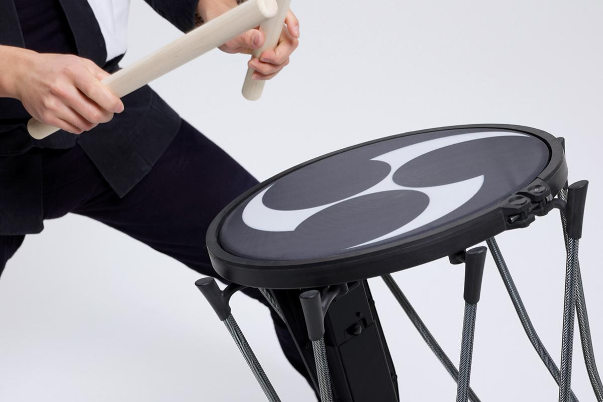 The Taiko-1 is portable and powerful, offering the player numerous traditional Japanese drum sounds