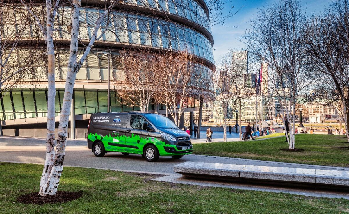 The electrified Transit Custom taking part in theLondon trial