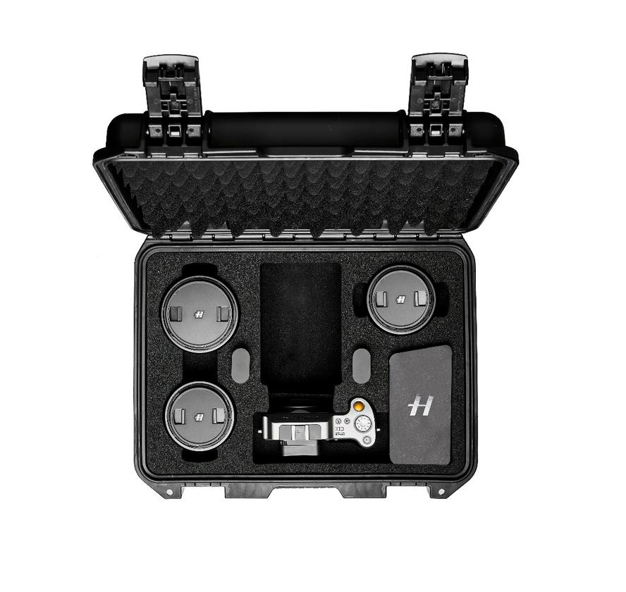 The X1DField Kit is designed to keep camera and accessories safe during transit