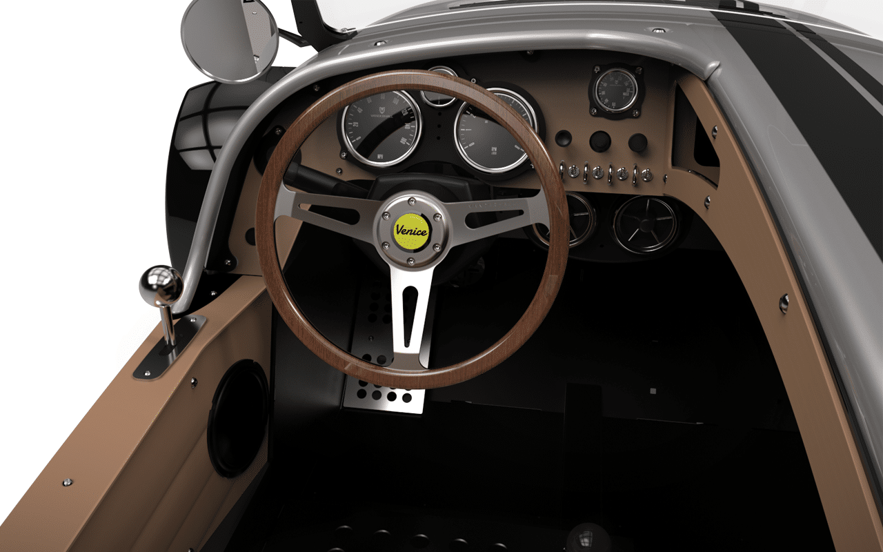 Vanderhall Speedster: wooden steering wheel