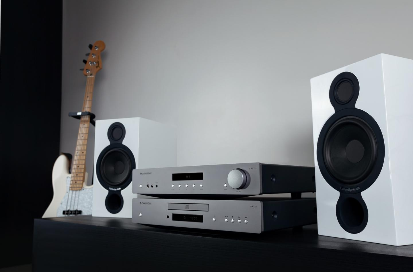 The Cambridge Audio AX series comprises a CD player, an integrated amp and two stereo receivers